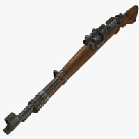 3d model kar98k rifle