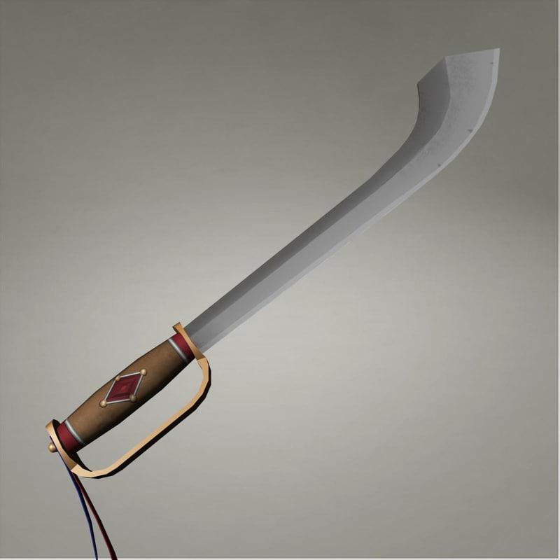 antique sword 3d model