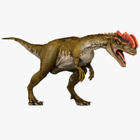 max dilophosaurus dinosaur modelled