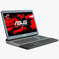 laptop asus g75vw computer screen 3d model