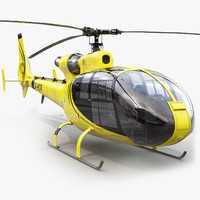3d model of aerospatiale sa gazelle helicopter