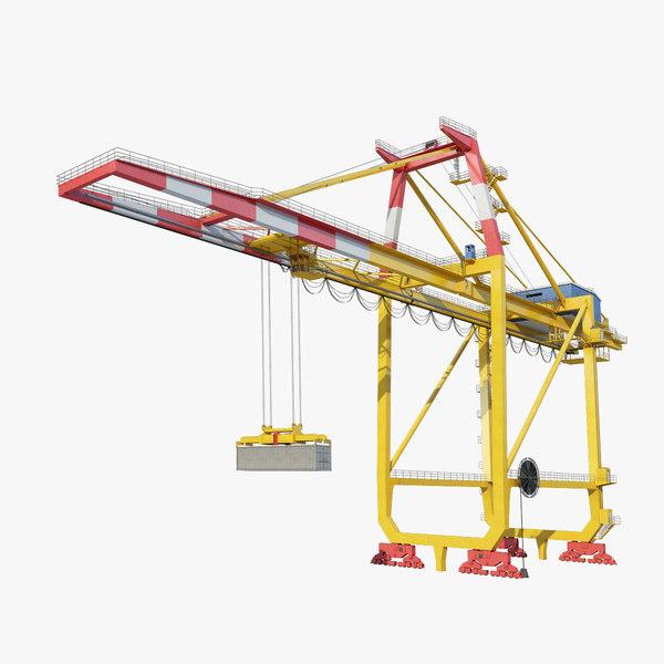 container crane 3d model