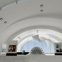 3d model modern art gallery