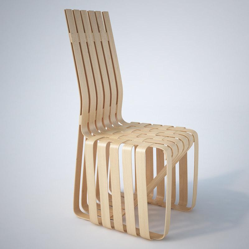 - knoll sticking chair 3d max