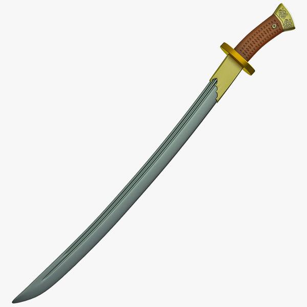 dao sword 3d 3ds