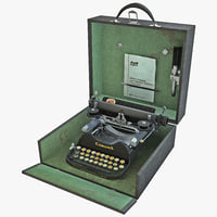 Corona Portable Typewriter 1920 Set