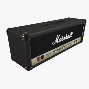 marshall amplifier 3d model