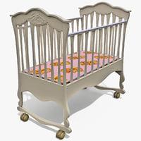 baby bed 3d model