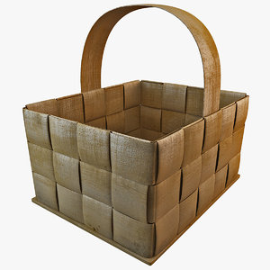 3ds wooden basket
