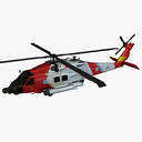 Military rescue helicopter 3D models