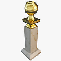 3d model golden globe award
