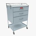 medical supply cart 3D models