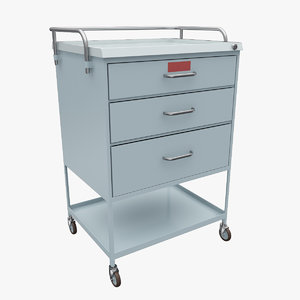 3ds max medical supply cart