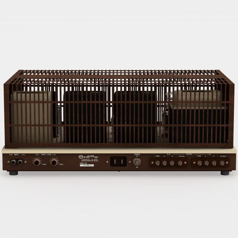 3d luxman mq-80 amplifier