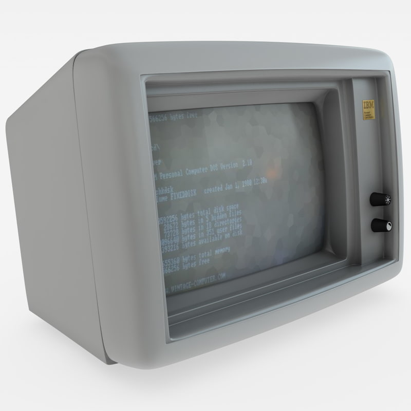 old ibm monitor 3d c4d
