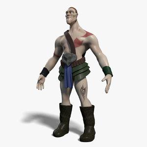 maya cartoon warrior character
