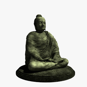 3d model buddha gautama spiritual