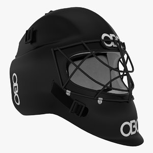 3d model field hockey helmet obo