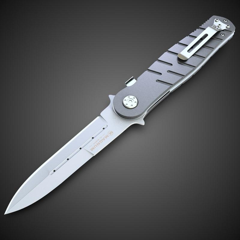 magnum knife 5 3d model