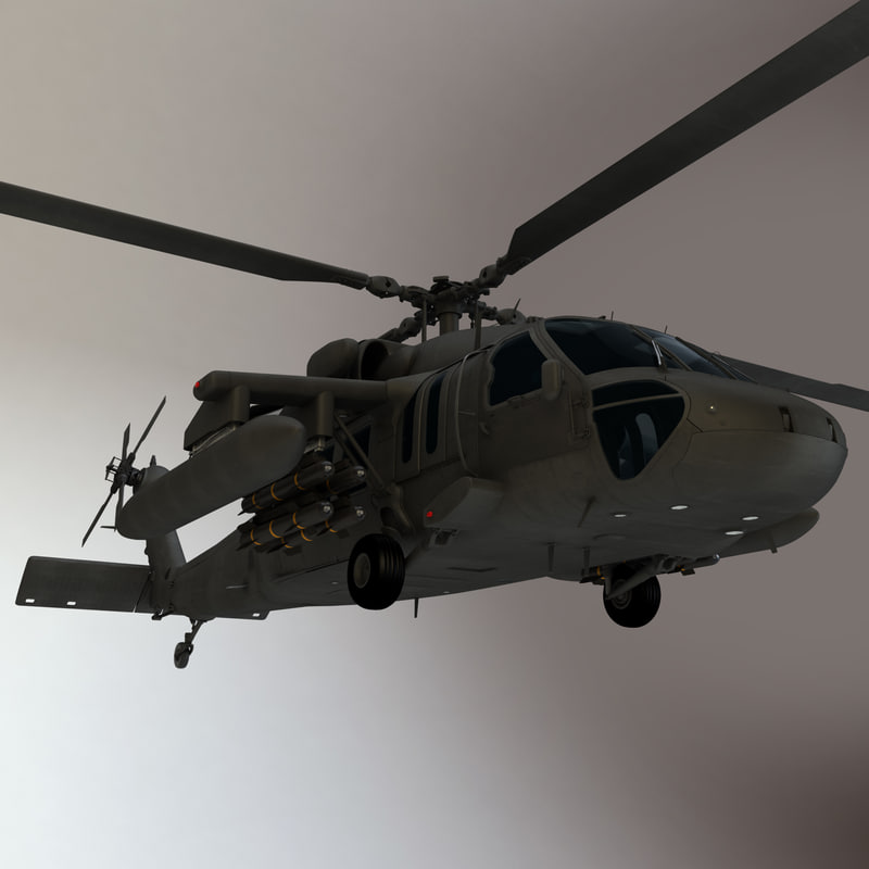 uh- sikorsky ilitary helicopter 3d odel