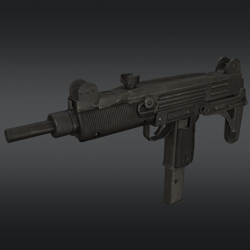 uzi submachine gun 3d model
