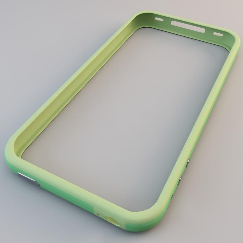 3d model green iphone 4 bumper