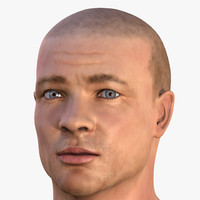 male head human man 3d max