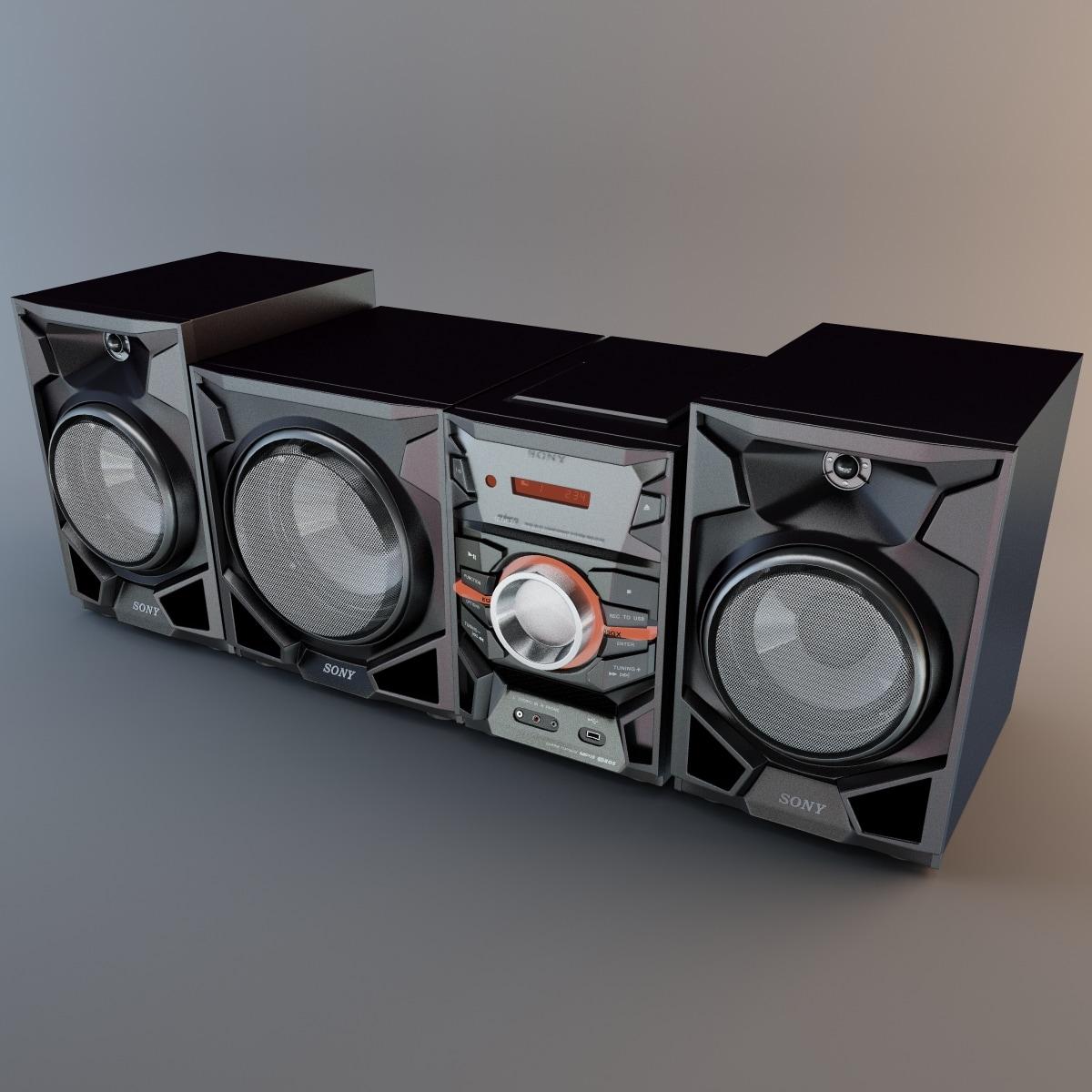 3d model sony mhc ex900 double
