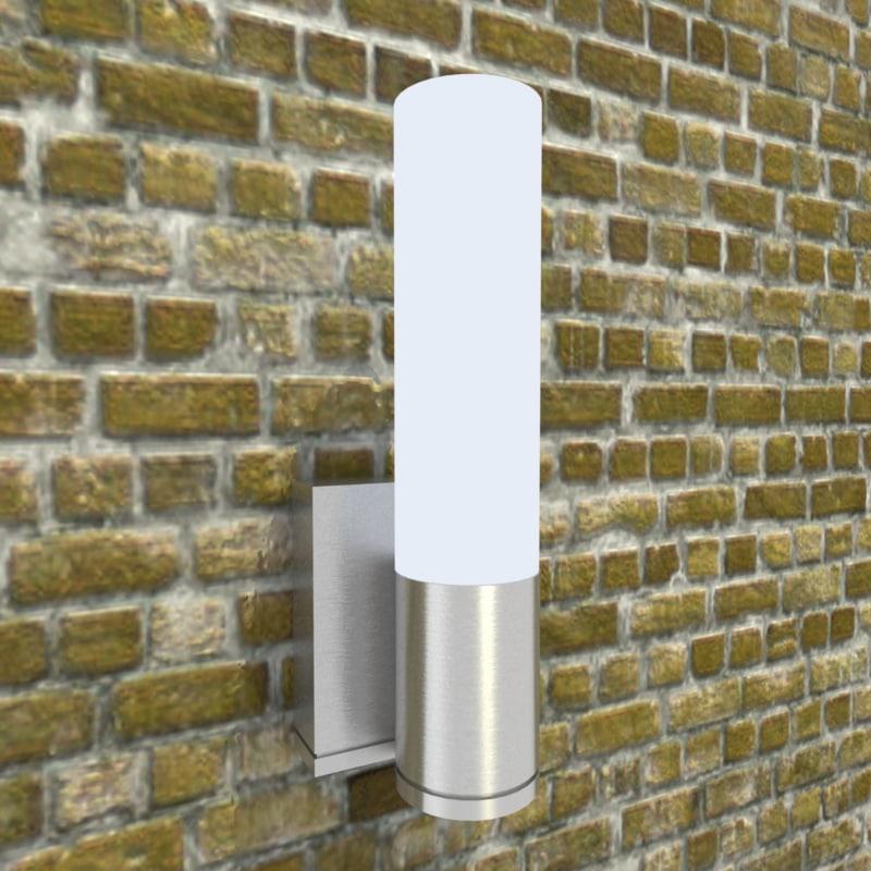 3d model of wall sconce light fixture