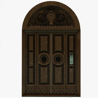 wood door 3d 3ds