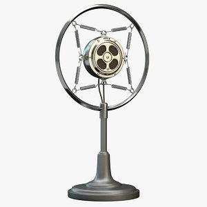 3d max retro microphone