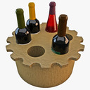 wine rack 3D models