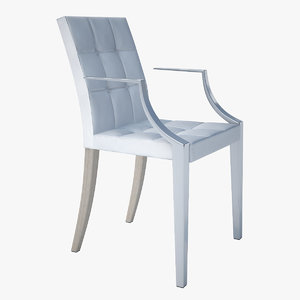 3d model - driade monseigneur chair starck