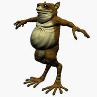 frogman frog man 3d 3ds