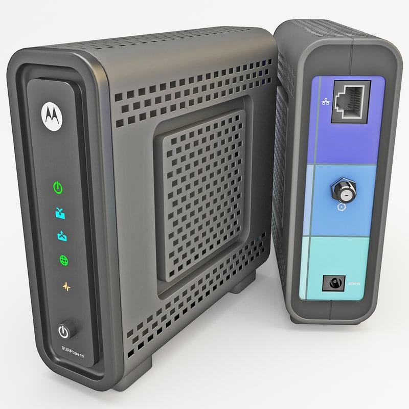 3d model motorola sb6121 modem