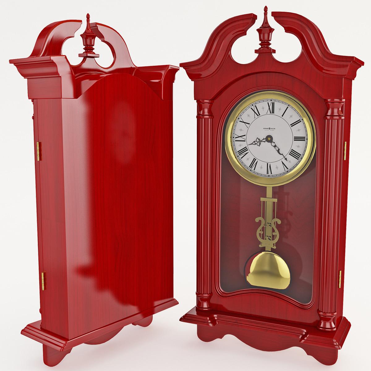 3dsmax old wooden wall clock
