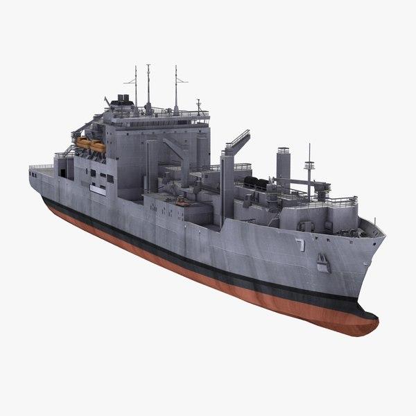 carl brashear cargo ship 3d model