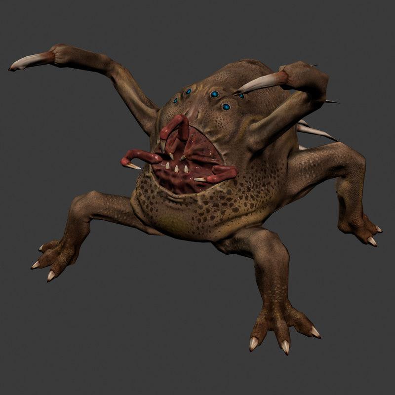 character alien monster obj
