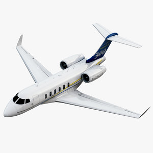 bombardier challenger 300 jet 3ds