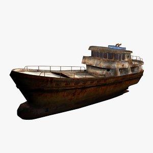 old scrap ship 3d model