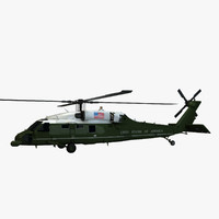 3ds max sikorsky vh-60n marine helicopter
