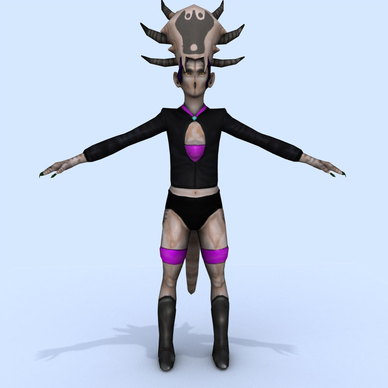 3d model alien female