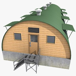 3d model quonset barrack
