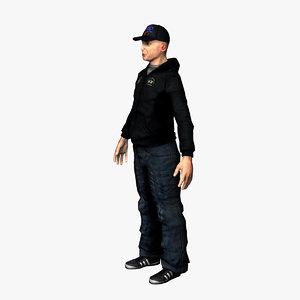 3d character rapper model