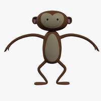 3d cartoon monkey character model