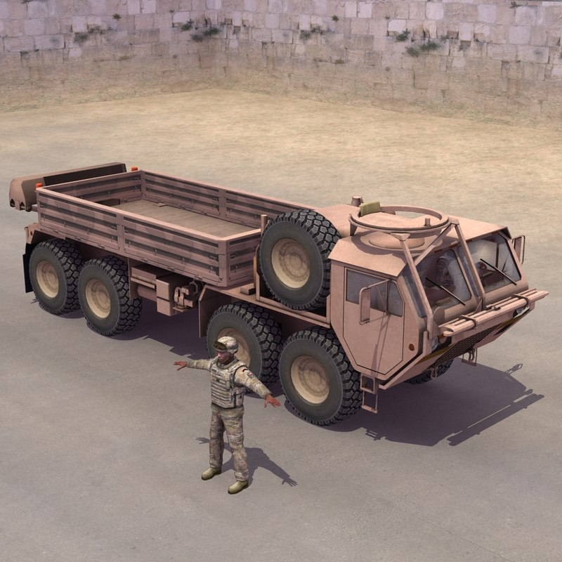 3d model m985 hemtt driver transport
