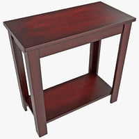 pierce espresso chairside table 3ds