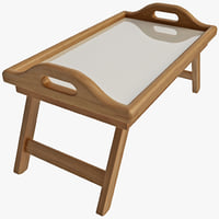 3d model winsome wood breakfast bed