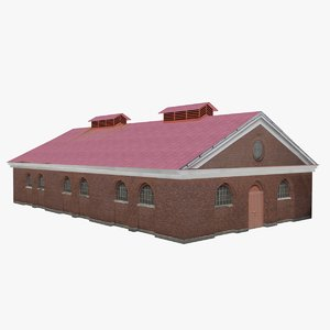 3d model of old store building