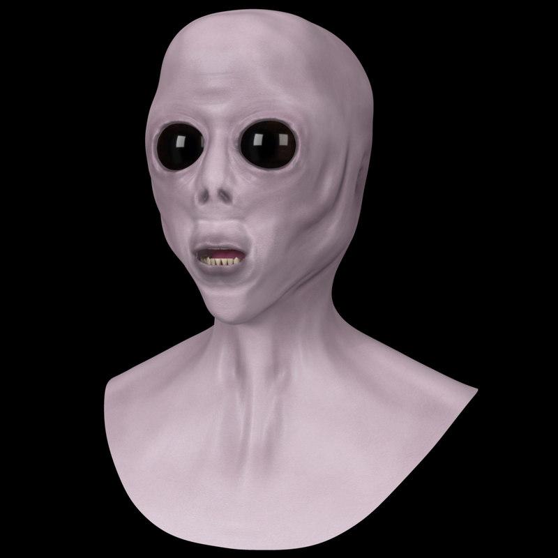 extraterrestrial bust 3d model